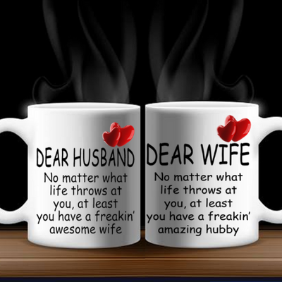 Dear Husband/wife Couple Mug - Awesome