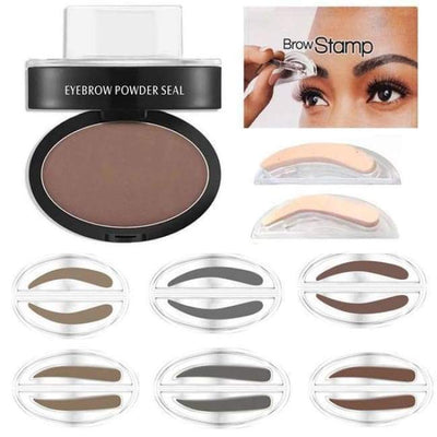 Quick Eyebrow Stamp Quick Eyebrow Stamp INSTANT PERFECT BROW makeup rapid april skin curved straight Dark Brown