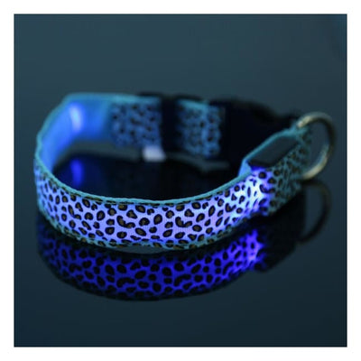 Rechargeable Led Dog Collar Collar - Extra Small (Blue) 24 - 32 Cm Illuminating Illumination Light LED dog collar Pet Collar Flashing