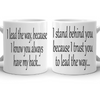 I Trust You Couple Mug