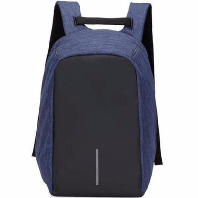 Anti-Theft Backpack - Classic Design Navy Blue  bag travel USB charging compartment  pacsafe laptop