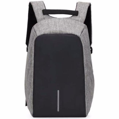Anti-Theft Backpack - Classic Design Gray bag travel USB charging compartment  pacsafe laptop