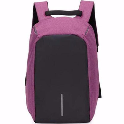 Anti-Theft Backpack - Classic Design Classic Purple bag travel USB charging compartment pacsafe laptop