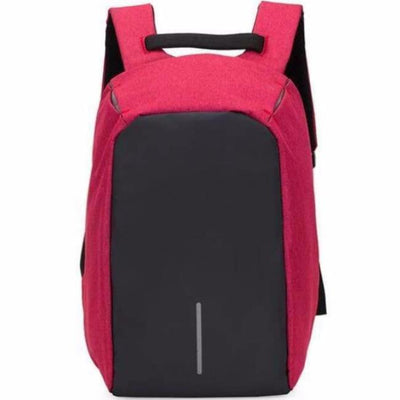 Anti-Theft Backpack - Classic Design Red bag travel USB charging compartment pacsafe laptop