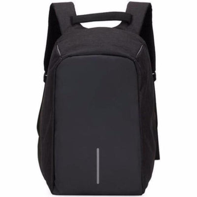 Anti-Theft Backpack - Classic Design Black bag travel USB charging compartment pacsafe laptop
