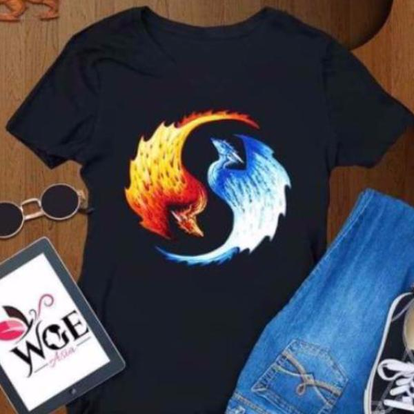 Yin & Yang Fire and Ice Dragons Shirt