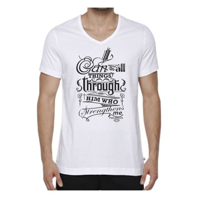 Bible Phrase Shirt - Philippians 4:18 - Mens Small / White cloth clothing bible verse christian statement shirt