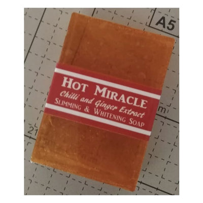 Hot Miracle Soap With Chilli And Ginger Extract bar heat wash root water extracted skincare burn fat cleanse recipe cold process evermore beauty