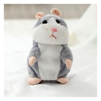 Talking Hamster Gray Toys giggle giggles laugh giggling speaking hamster Talk back speak