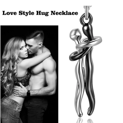 Couple Hugging Pendant Necklace