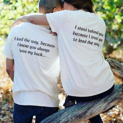 I Trust You Couple Shirt cloth clothing cotton statement shirt tee print design WGEAsia Men Women