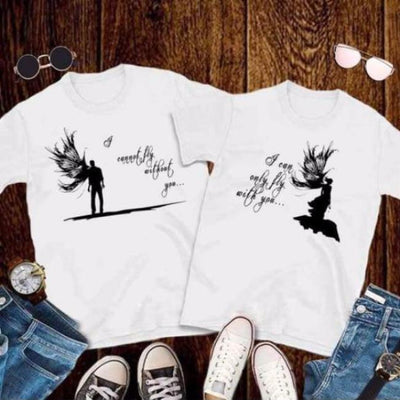 couples shirt One Winged Angel T-Shirts pair clothes clothing angels