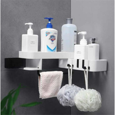 Rotating Shelf for Shower Corner