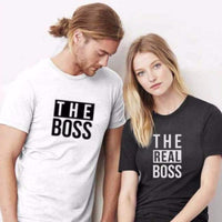 Couple Shirts Boss real boss couple t-shirts Couples tee