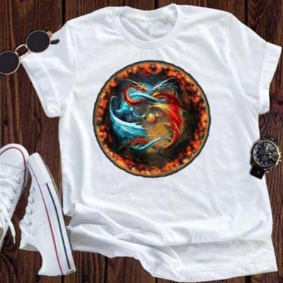 shirt Yin & Yang T-Shirts dragon