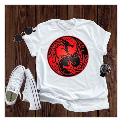 shirt Great Serpent Dragon T Shirt Yin Yang serpent Shirt Tee Yin & Yang