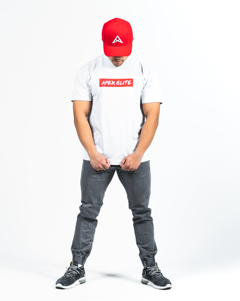 """Supreme"" Heather Grey/Cement Tee"