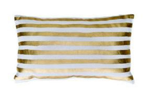 gold stripe cushion