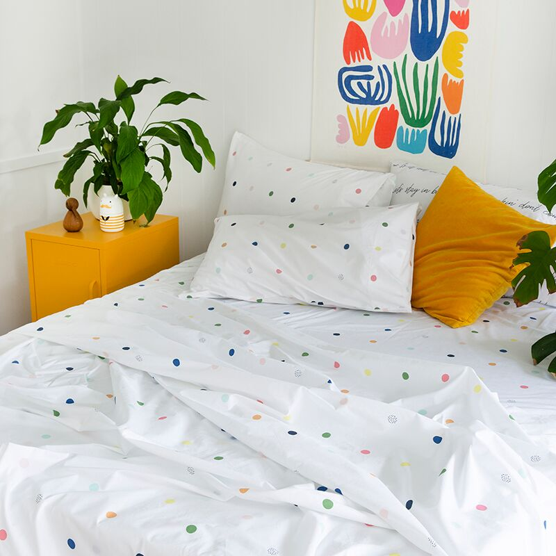 SPOT & DOT FITTED SHEET