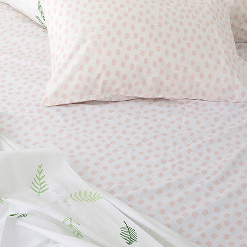 STROKE OF LUCK FITTED SHEET -  BLOSSOM