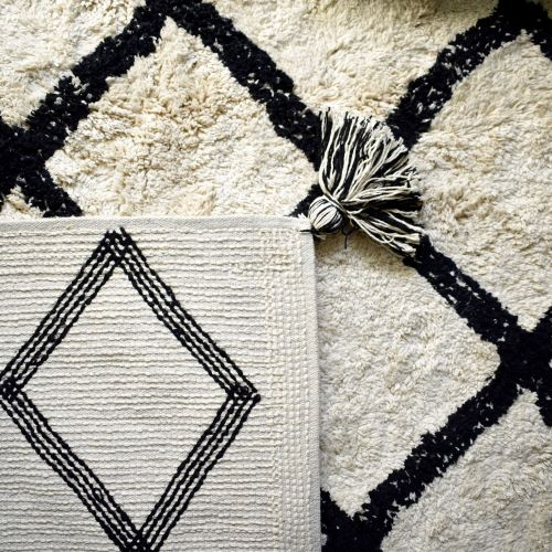 Cotton Berber Rugs - Black
