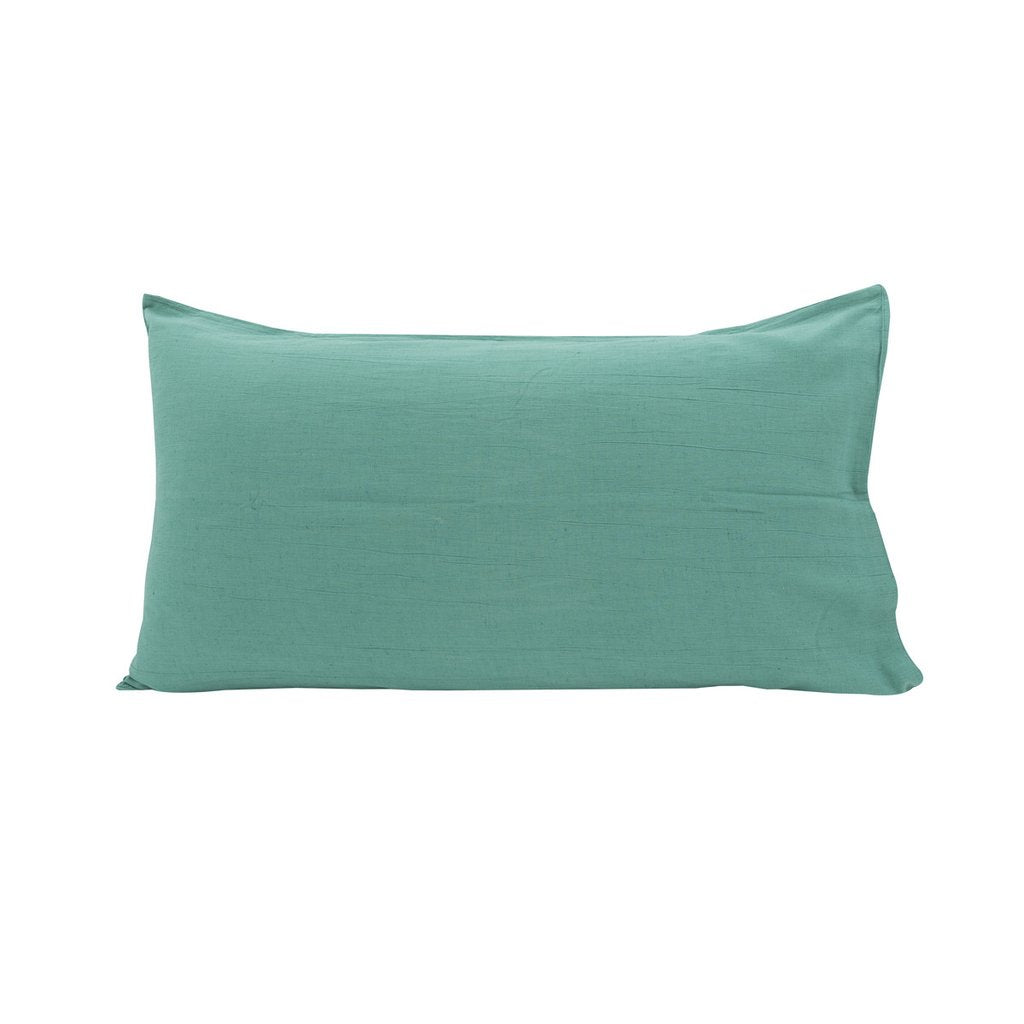 SEA GREEN LINEN BLEND KING PILLOWCASE - SET OF 2