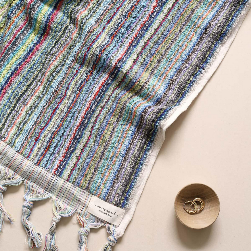 STRIPED TURKISH TOWEL - OCEANIC