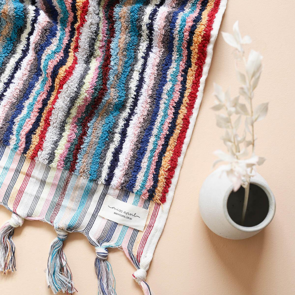 STRIPED TURKISH TOWEL - SPICED CHAI