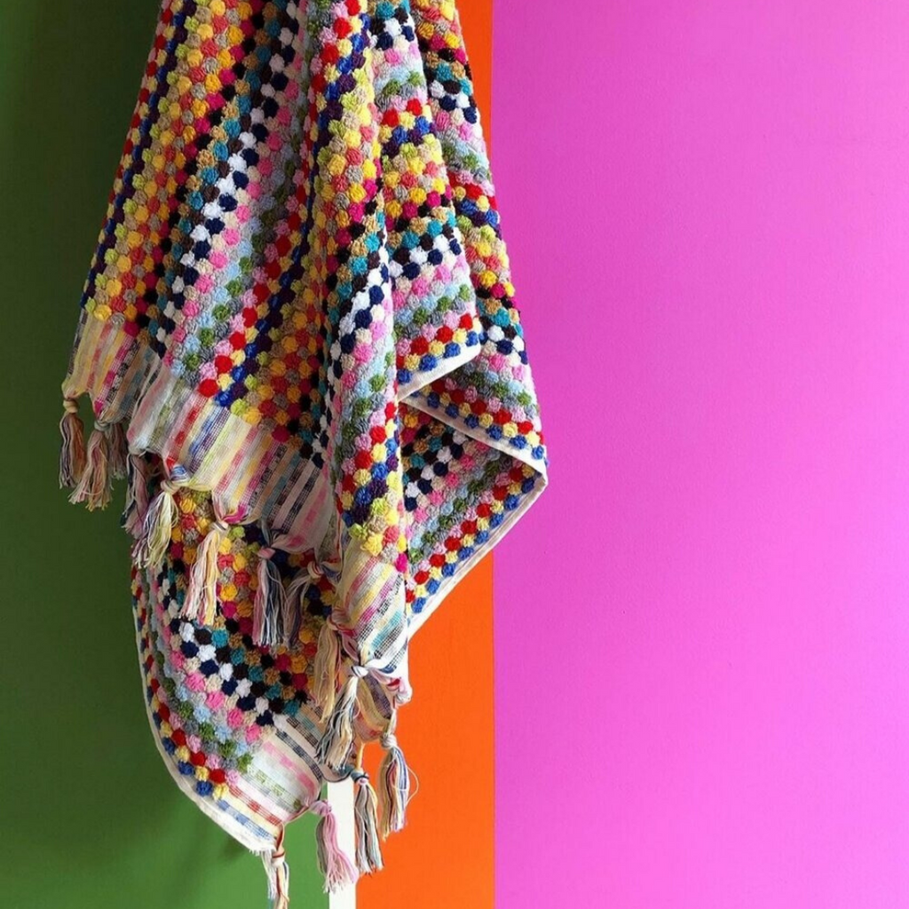 Pom Pom Turkish Towel - Multicoloured