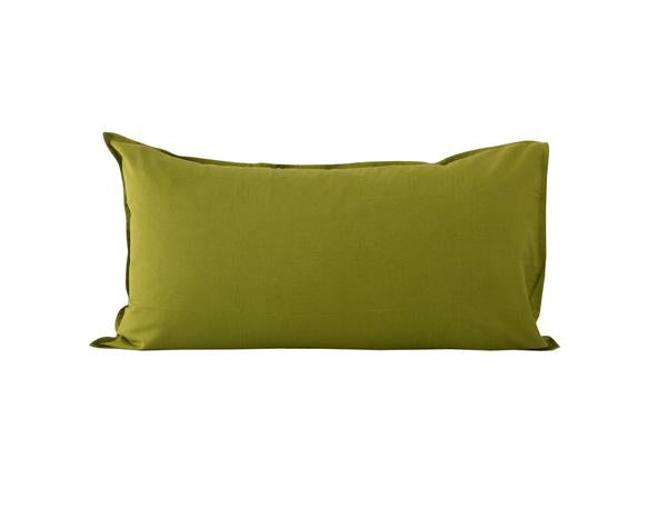 OLIVE GREEN LINEN BLEND KING PILLOWCASE - SET OF 2