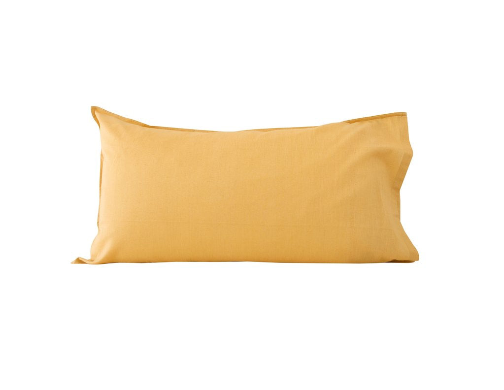 MUSTARD LINEN BLEND KING PILLOWCASE - SET OF 2