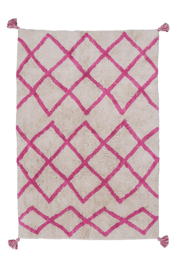 Cotton Berber Rugs - Pink