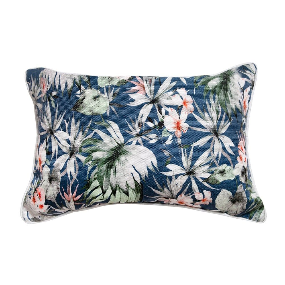 Indoor/Outdoor Cushion – Fern Garden Deep Blue