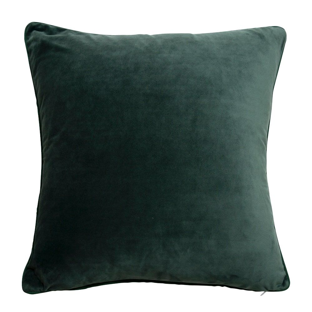Velvet Indoor Cushion – Deep Green