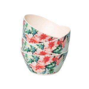 Copy of Bamboo Bowl Set –Hibiscus Garden  – Set of Four