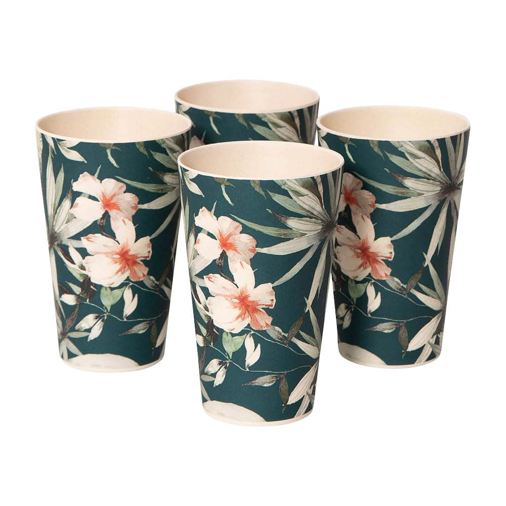Bamboo Cup Set – Fern Garden – Set of Four