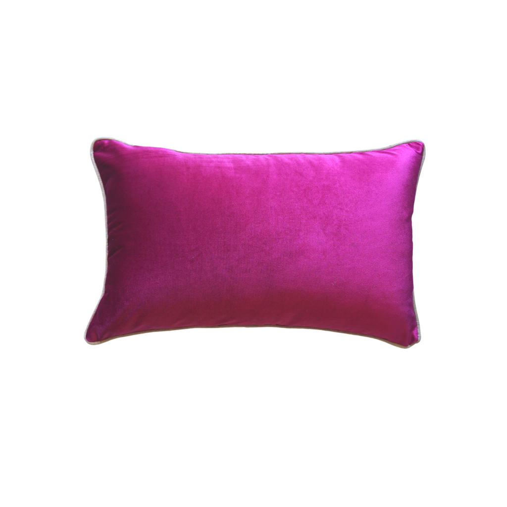 Fuschia Pink Velvet Cushion