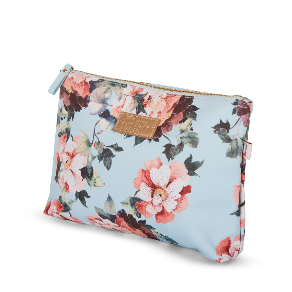 Cosmetic Bag – Ice Blue Flora