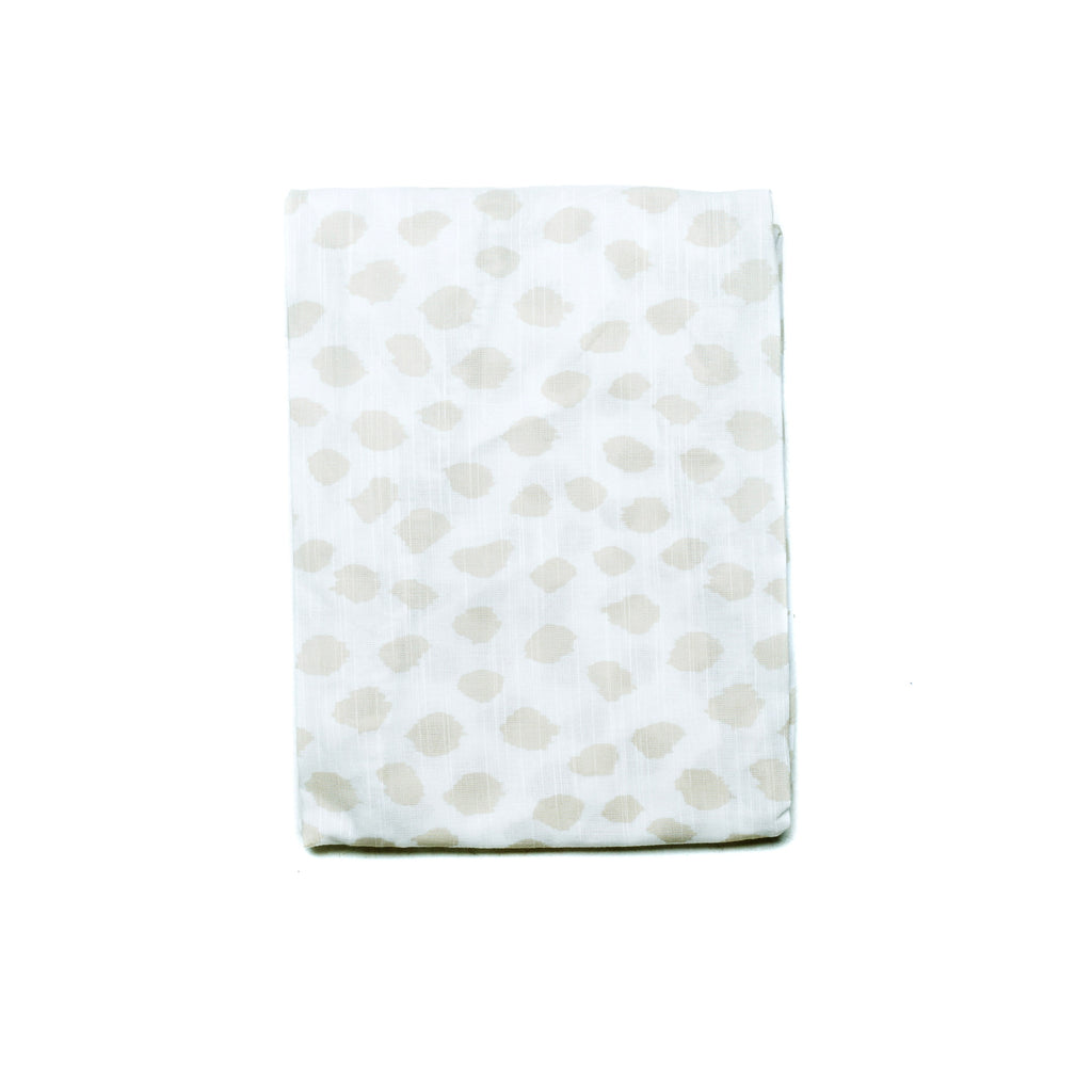 SAFARI FITTED COT SHEET - BLUSH