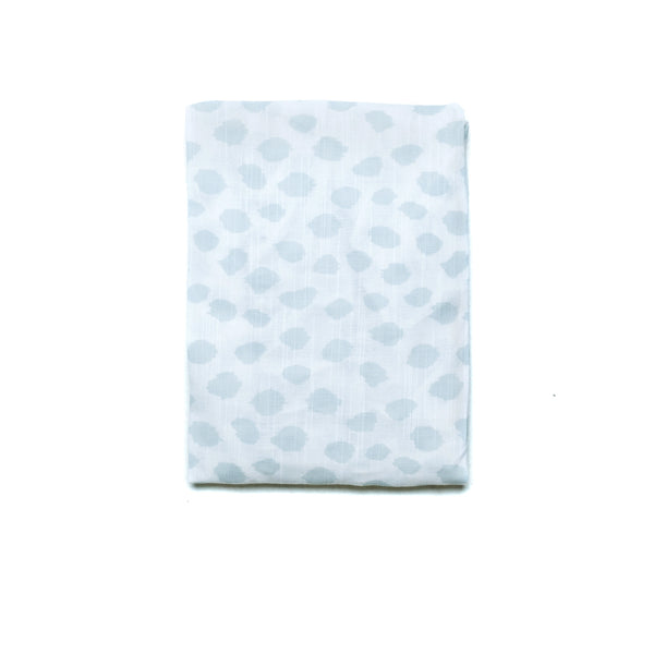 SAFARI FITTED COT SHEET - SKY BLUE