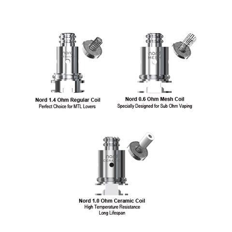 SMOK NORD REPLACEMENT COILS 5 pack - Big Time's Vapor