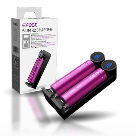 Efest 2 Bay SLIM K2 Intelligent Charger - Big Time's Vapor