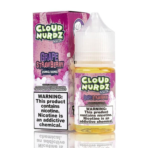 Cloud Nurdz Salt Grape Strawberry 30ML - Big Time's Vapor