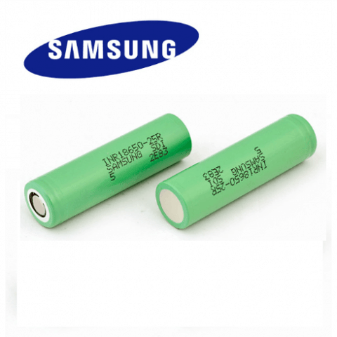 Samsung 25R 18650 2500MAH 20A Flat Top Batteries (Pack of 2) - Big Time's Vapor