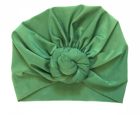 Top Knot Head Wraps - Emerald Green