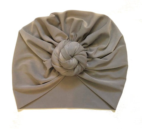 Top Knot Head Wraps - Grey
