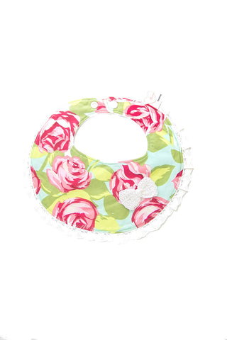 Round Couture Bib - Painted Rose
