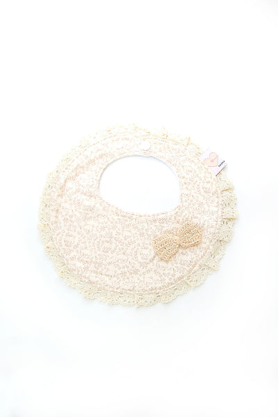 Round Couture Bib - Cream