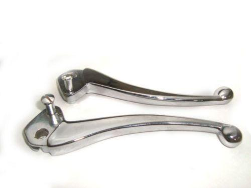 LAMBRETTA BALL END LEVER SET SIL CHROMED BRAND NEW LAMBRETTA BRAKE/CLUTCH LEVERS AVAILABLE  ONLINE AT CLASSICSPAREPARTS