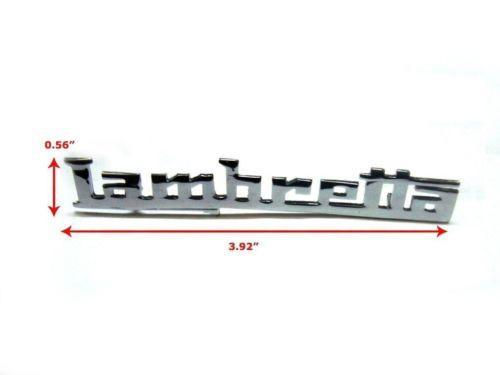 LAMBRETTA BRAND NEW LEG SHIELD BADGE HIGH QUALITY CHROME GP MODELS AVAILABLE  ONLINE AT CLASSICSPAREPARTS